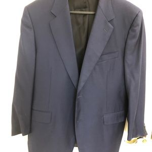 Canali Sport Coat 44R Navy 100% Wool 2 Button EUC